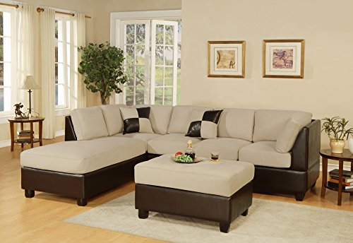 Bobkona Hungtinton 3-Piece Sectional Sofa Set