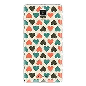 Mozine Blue Love Pattern printed mobile back cover for Xiaomi mi4