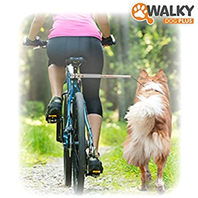 Walky Dog Plus Handsfree Dog Bicycle Exerciser Leash 2015 Newest Model with ParaCord Leash Military Grade