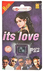GD Memory Card Its Love 8 GB With Card Reader (Green, GM27)