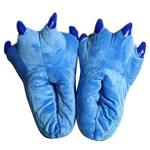 DEHANG-per bambini Unisex Pantofole Cartoon Cosplay Paw, Scarpe, colore: blu