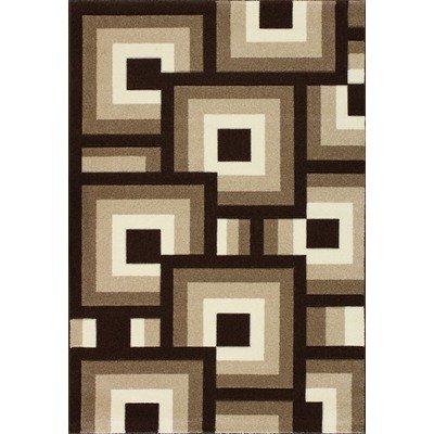 Central Oriental 1525.51.67 Oasis Blocks Brown/Beige 7 Feet 10 Inch