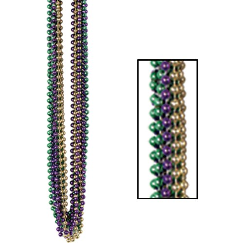 Bulk Party Beads - Small Round (asstd gold, green, purple) Party Accessory  (1 count) - 1