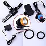 CREE XML XM-L T6 LED Bike Bicycle Light HeadLight HeadLamp 1200LM Gold