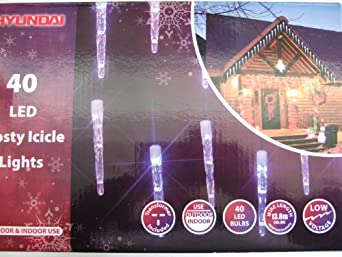 christmas 40 bulb long 10cm led frosty icicle sculpture. Black Bedroom Furniture Sets. Home Design Ideas