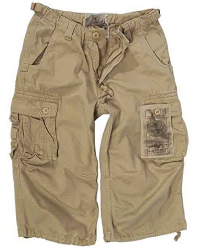 air-combattimento-3-4-motivo-jeans-pantaloni-il-prelavaggio-colore-kaki