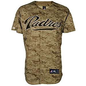 Buy MLB Mens San Diego Padres Digital Camo Short Sleeve 6 Button Synthetic Replica Baseball Jersey By... by Majestic