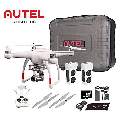 Autel Robotics X-Star Premium Drone with 4K Camera, 1.2-mile HD Live View & Hard Case (White)& Manufacturer Accessories +extra 1x Autel Robotics Battery (Li-Po with 4900mAh, 14.8V) (White)