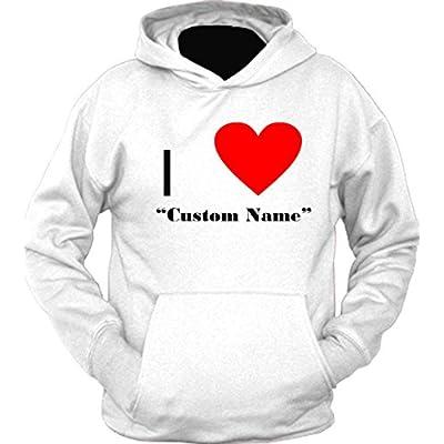 I Heart Custom Name Hoodie