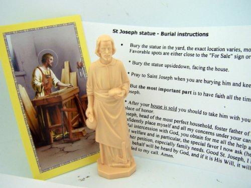 saint joseph statue home seller kit with prayer card and instructions garden decor figurines. Black Bedroom Furniture Sets. Home Design Ideas