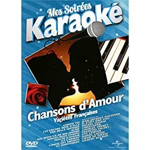 mes soir es karaok chansons d 39 amour chanson fran aise dvd blu ray. Black Bedroom Furniture Sets. Home Design Ideas