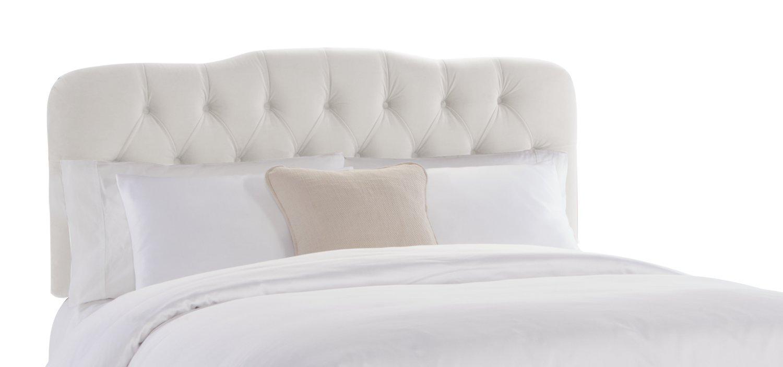 Skyline Furniture Surrey Queen Tufted Headboard White