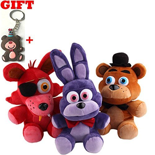 [3 pcs/set Five Nights At Freddy's 4 FNAF Bonnie Foxy Freddy Fazbear Bear Plush Toys Doll 10