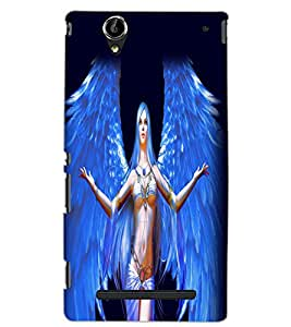 SONY XPERIA T2 ANGEL GIRL Back Cover by PRINTSWAG