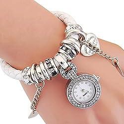 MONSTER-MASTER Rhinestone Diamond Wristwatches Bracelet Pendant Watch