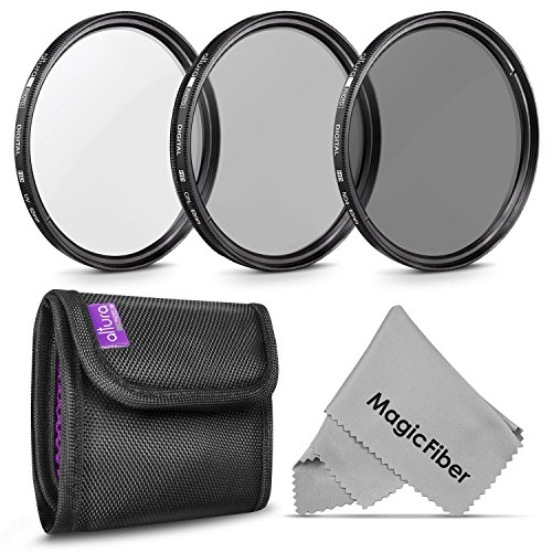 62MM Altura Photo Professional Photography Filter Kit (UV, CPL Polarizer, Neutral Density ND4) for Camera Lens with 62MM Filter Thread + Filter Pouch (Nd Filter 62mm compare prices)