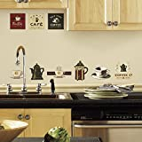 (Toys) RoomMates RMK1254SCS Coffee House Peel & Stick Wall Decals