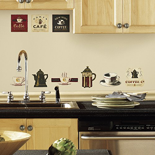 RoomMates RMK1254SCS Coffee House Peel & Stick Wall Decals - 1