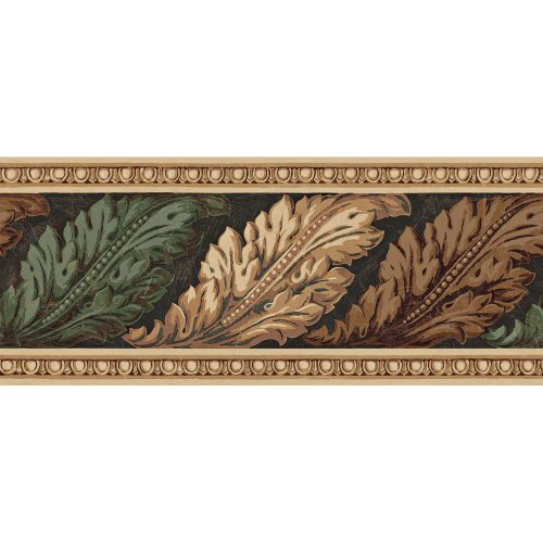 Decorate By Color BC1581843 Architectural Leaves Border (Classic Car Wallpaper Border compare prices)
