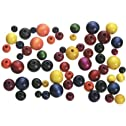 Round Wood Beads, Assorted Sizes & Colors, 150 Pieces Per Bag