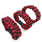 YB-OSANA 3 Packs Bracelet Charging USB C Cable USB TYPE C Charging Bracelet Charger Cable Weaving Wristband Bracelet Charger USB C for Samsung Galaxy Note 8,S8 S8 Plus,Nintendo Switch, LG G6 (Red)
