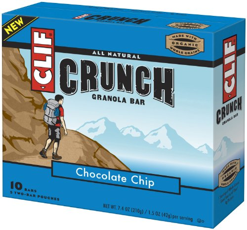 Clif Crunch Bar, Chocolate Chip, 10-Count (Pack of 2)