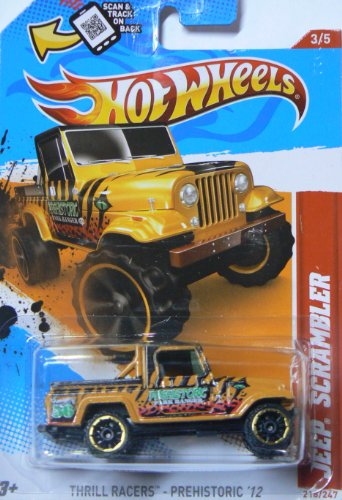 Hot Wheels Jeep Scrambler 3/5 thrill Racers Prehistoric '12 218/247
