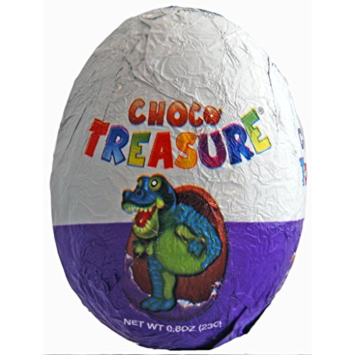 4 Choco Treasure Chocolate Eggs with Surprise 20g (Pack of 4)