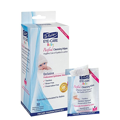 Dr. Fischer EYE-CARE® BABY Non-Irritating Preservative-Free Purified Cleansing Wipes- 30 Pack