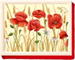 Field Poppies Bean Bag Cushion Laptray