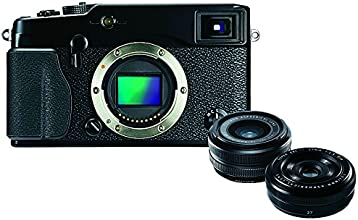 Fujifilm X-Pro1 Digital Camera with XF18mm and XF27mm Lens (16MP, APS-C X-Trans CMOS Sensor) 3 inch LCD