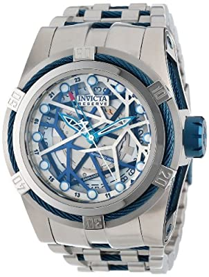 Invicta Men's 12946 Bolt Reserve Automatic Silver Tone Dial Stainless Steel Watch