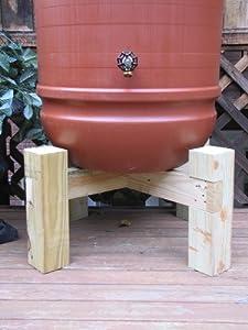 Amazon.com : Hamptons Rain Barrel Stand : Patio, Lawn & Garden