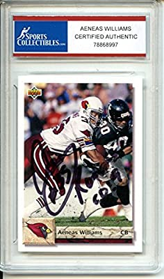 Aeneas Williams Autographed Arizona Cardinals Trading Card - Certified Authentic
