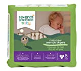 Seventh Generation Baby Free & Clear Overnight Diapers, Stage 5, 20 Count (Pack of 4)