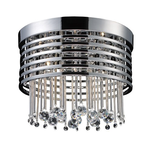 Elk 30023/5 Rados 5-Light Flush Mount In Polished Chrome
