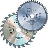NBS Werkzeuge 2 er Satz HM Hartmetall Kreissägeblatt 160 x 20 x 24 / 48 Zähne
