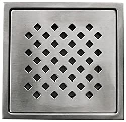 Aquieen Stainless Steel Floor Grating (Silver, Daisy)