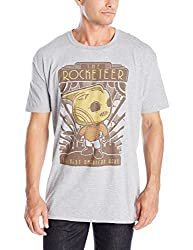 Funko Men's Pop! T-Shirts Disney - Rocketeer Hero, Gray, X-Small