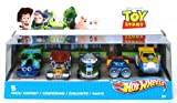 Hot Wheels V9984 Toy Story RC, Wheelin' Woody, Blastin' Buzz Paint Job, Land Speed Lenny, Rocky Road 5-Pack Gift Set Character Car Vehicles