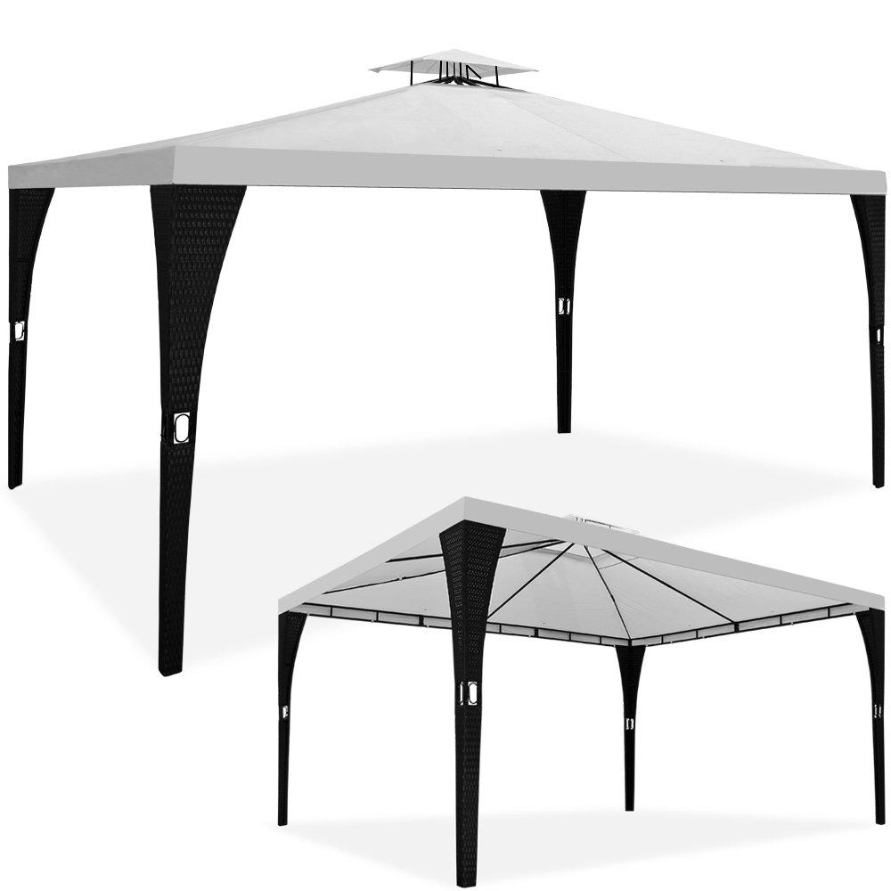 Rattan Pavillon Polyrattan 3x4m – 12m² überdachte Fläche bestellen