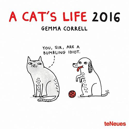 2016 A Cat's Life Wall Calendar