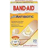 Band-Aid Brand Adhesive Bandages Plus Antibiotic, Assorted, 20 Count