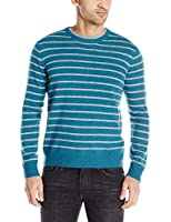 Williams 100% Cashmere Men's Cashmere Striped Crewneck Sweater