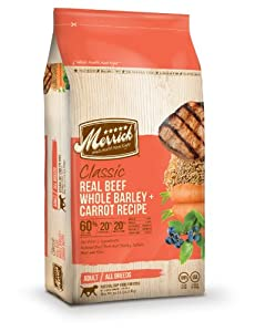 Merrick Classic 30-Pound Adult Real Beef, Whole Barley and Carrots Dog Food, 1 Bag