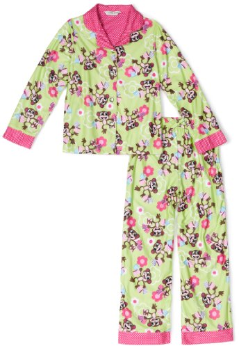 Komar Kids Monkey 2-piece Pajama Set