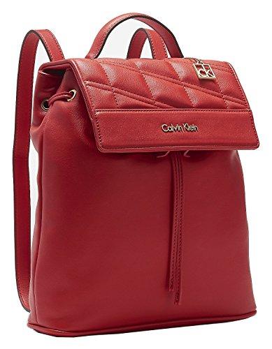 Calvin Klein Womens Kora Studio Slim Backpack Bag Berry