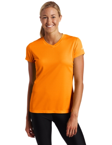 Asics Women's Ready Set Short Sleeve, Fuel, X-Large