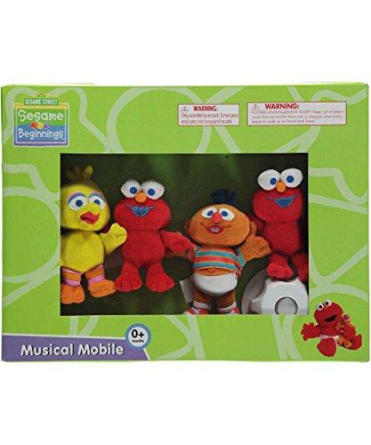Sesame Street Beginnings Musical Mobile Baby Crib - 1