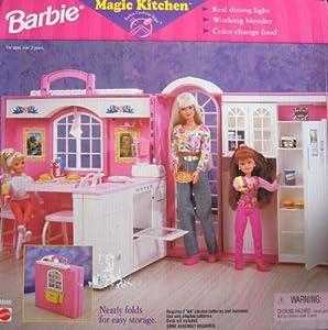 Barbie magic kitchen playset w working blender for Barbie kitchen set 90s